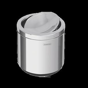 Basurero con tampa basculante y base en polipropileno 7 litros