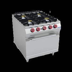 Cocina a gas 4 quemadores con horno a gas